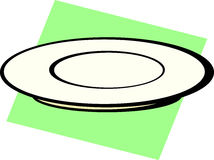 dish or plate vector illustration Royalty Free Stock Image
