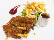 A dish of pork rib barbecue Royalty Free Stock Photo