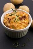 Dish of potato souffle Royalty Free Stock Images