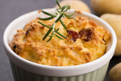 Dish of potato souffle Royalty Free Stock Photos