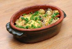 Dish with potatos and meat Royalty Free Stock Photos