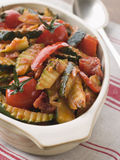 Dish of Provencale Courgettes stock photos