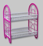 Dish rack. Double rack of the dish drainer Stock Images