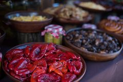 Dish of red pepper. Stock Image