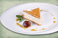 Dish of the restaurant dessert Royalty Free Stock Photography