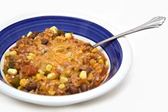 Dish of Rice and Beans Stock Photos