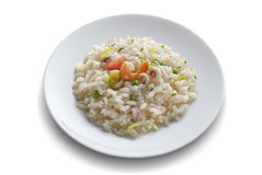 Dish with rice salad with shrimp Royalty Free Stock Photography