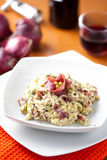 Dish of risotto with asparagus and bresaola Stock Photos