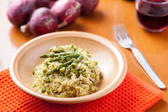 Dish of risotto with asparagus Royalty Free Stock Photos