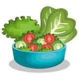 Dish salad fresh icon Royalty Free Stock Photo