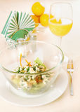 Dish with salad on the table Stock Photography