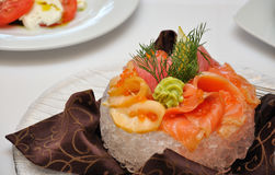 A dish of salmon Royalty Free Stock Images