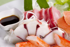Dish of sashimi Royalty Free Stock Images