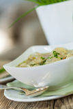 Dish of savory pork tortellini in broth pelmeni russian Royalty Free Stock Photography