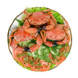 Dish with seafood. Royalty Free Stock Photo
