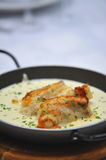 Dish with seafood Stock Photography