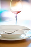 Dish setting Stock Photography