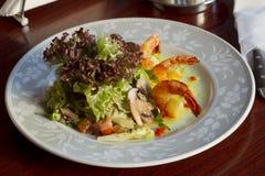 Dish with shrimp Stock Photos