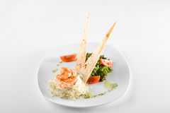 Dish of shrimps Stock Images