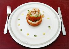 Dish from  shrimps. Seafoods Stock Image