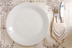 Dish with Silverware Royalty Free Stock Photos