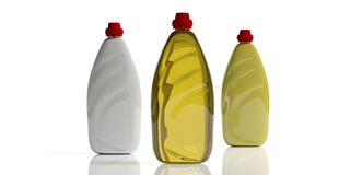 Free Dish Soap, Dishwashing Detergent In Blank Bottles, Isolated On White Background. 3d Illustration Stock Photography - 139556392