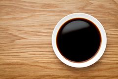 dish of soy sauce stock images