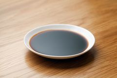 dish of soy sauce stock photography