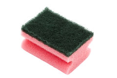 Dish sponge. Kitchen dish sponge isolated over a white background royalty free stock images