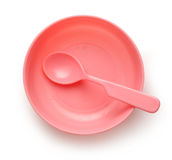 Dish, spoon and fork Royalty Free Stock Photo