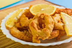 Dish of squid Stock Photo