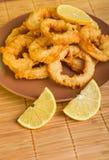 Dish of squid Stock Images