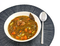 Dish of stewed lentils Stock Image