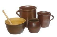 Dish  stoneware clay Royalty Free Stock Photography