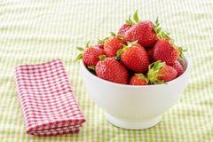 Dish of Strawberries stock image