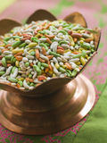 Dish of Sugared Fennel Seeds Royalty Free Stock Images