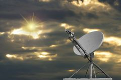 Dish And Sun Stock Images