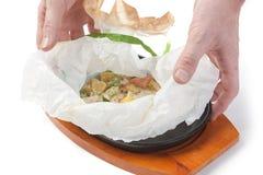 Dish surprise Royalty Free Stock Image