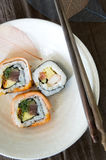 Dish of sushi roll Royalty Free Stock Images