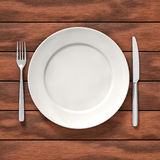 Dish on table Stock Images