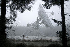 A dish telescope in the forest in winter Royalty Free Stock Image