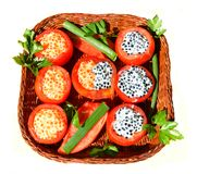 Dish from tomato with stuffing Royalty Free Stock Photo