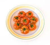 Dish of tomatoes Royalty Free Stock Image