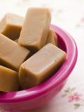 Dish of Vanilla Fudge stock photography