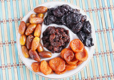 Dish With Various Dried Fruits Royalty Free Stock Image