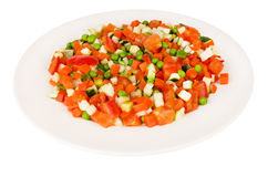 Dish with vegetable mix Stock Photography