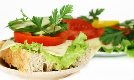 Dish of vegetables. On white Royalty Free Stock Images