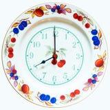 Dish wall clock Stock Photos