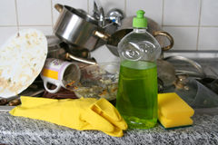 Dish washing Stock Photography