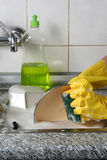 Dish washing Stock Images